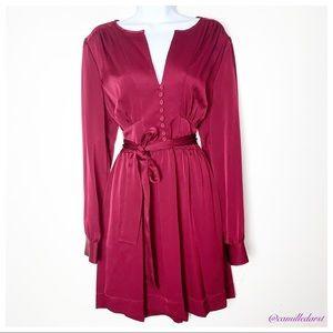 NWT BCBG MAXAZRIA | Cranberry Longsleeve dress